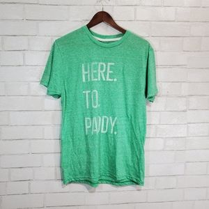 Here to Paddy graphic tee